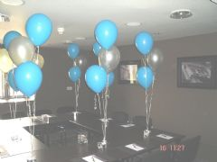 Sets of  3 balloons on weight - popular at all functions!