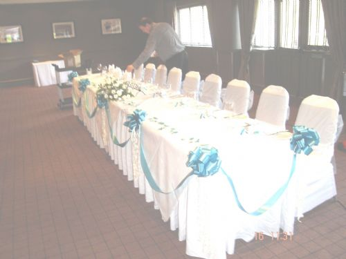 Swags and tails - popular at  weddings!