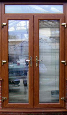 Golden Oak French Doors.
