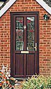 Cottage Style PVC-u Door (Mahogany).