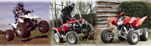 Apache's superb range of quad bikes at www.apachequads.com