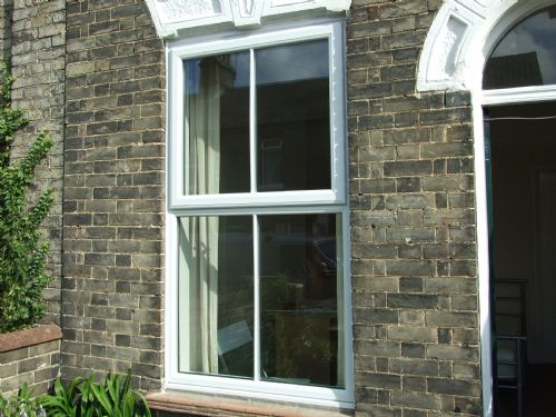 Mock sash windows.