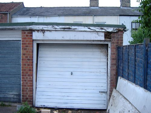 Garage doors before
