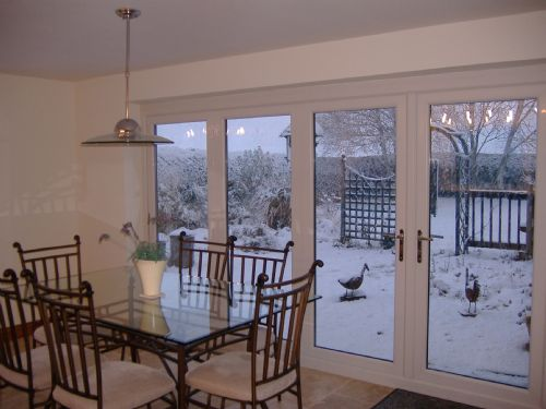 Bi Fold doors great in summer and winter