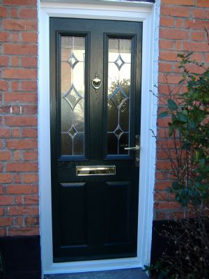 Green Composite Door ideal for terraced houses our price £750 inc vat