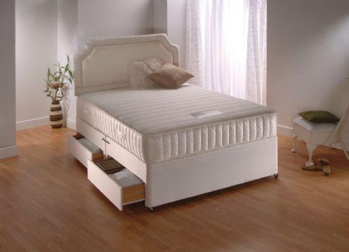 Memory and latex divan beds.