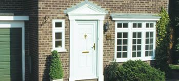 PVC-U Doors in white, light oak or rosewood