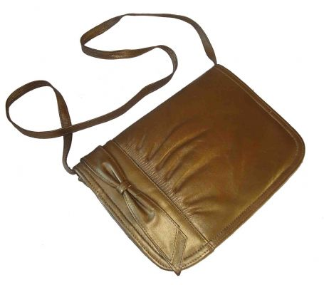 Gold 80's bow shoulder bag