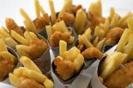 fish n chip cones which are great for parties and wedding receptions for high output