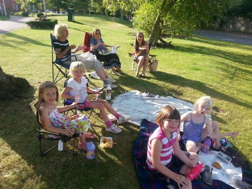 A village fete, party in the park or Picnic on the green anywhere eat fish n chips