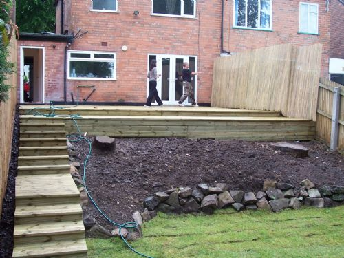Customers decking.