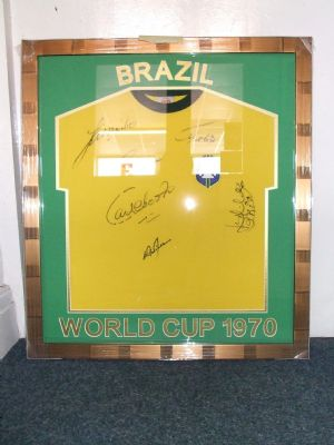 Brazil shirt framed.