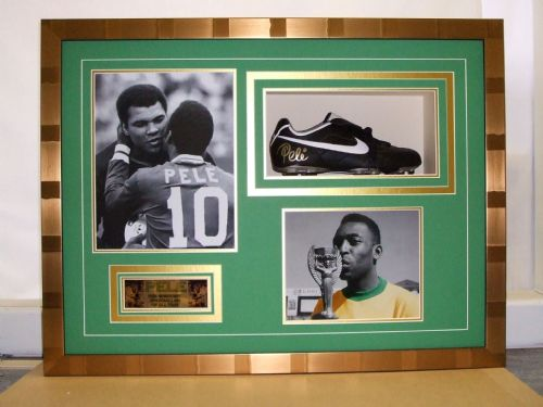 Pele' boot framed.