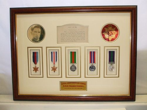 Medals framed for life.