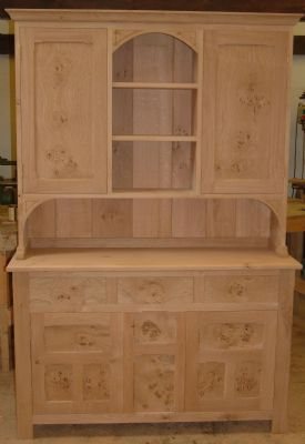 Oak dresser in unfinished state