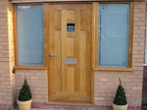 Oak door made to customers design