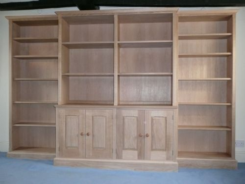 Solid Oak bookcase finished in wax