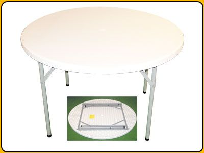 4 Foot Round Folding Strong Blown Molded Table