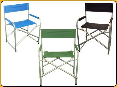 Metal Framed Wide Seated Directors Chairs in a choice of colours