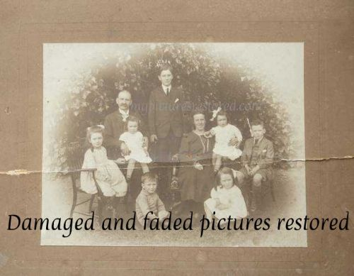 Damaged and faded pictures restored