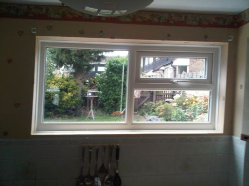 Window fitted after break in