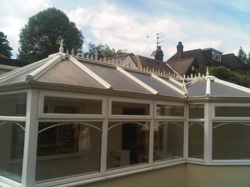 New conservatory roof fitted for Aviva insurance after a break in