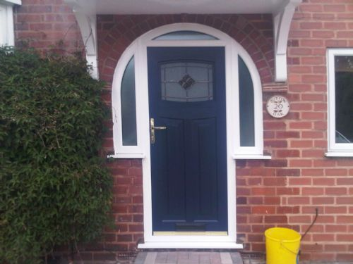 Arched composite rock door, fitted by 0121 Repairs Birmingham on New Sutton Oak Rd, Streetly.