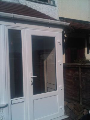 Front door combi fitted in Reditch for social services to allow wheel chair access