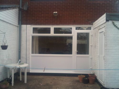 Rear upvc combi fitted Vauxhall Cresent Chelmsley Wood