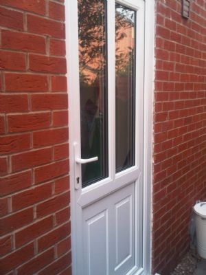 New Upvc rear door fitted by 0121 Repairs with the new inverted panel rather than the raised panel