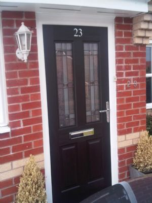 New composite rock door fitted by 0121 Repairs on Harvest Field Way Sutton Coldfield, Birmingham