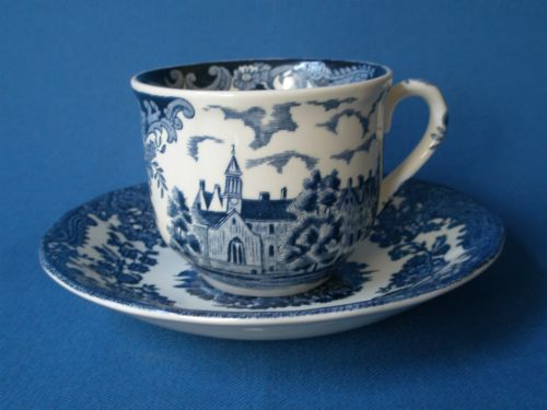 Royal Worcester Palissy Avon Scenes Teacup and Saucer