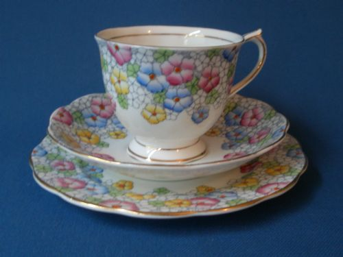 Vintage Hand Painted Royal Albert Trio c'1935