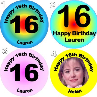 Some examples of our birthday badges