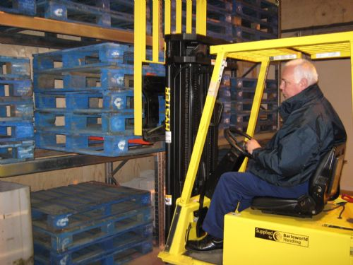 Their fork lift training facility
