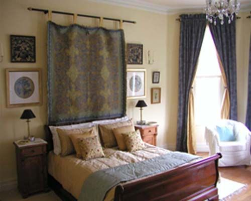 Bedroom with kingsized bed