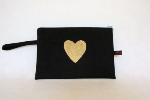 """This """"pochette"""" is very versatile and roomy. You can use it for many different purposes and can be used to store your beauty products and make-up, jewellery, small personal items, documents, passports, small notebooks, cards and or you can simply use"""