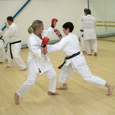 Ladies practising some sparring for self defence