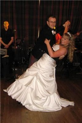 A couple performing their first dance