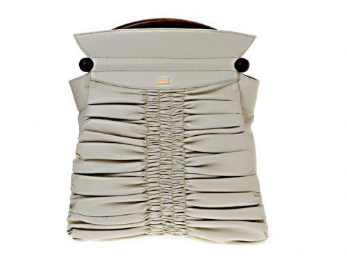 Ivory leahter Italian handbag.
