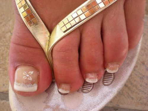 After a pedicure.