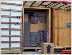 T. Barron Van, packing into a containerized storage unit