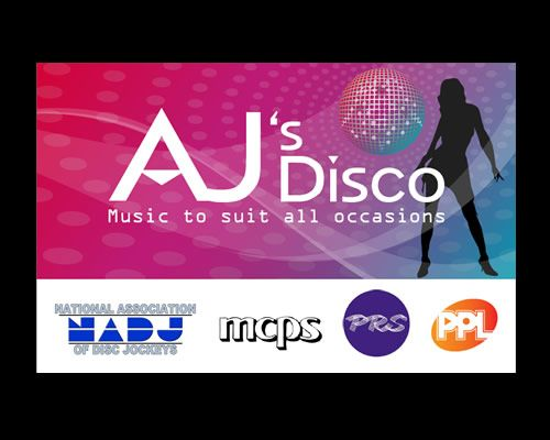 AJ's Disco Business Card Design
