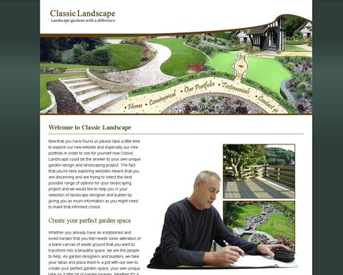 Classic Landscape - Website Design