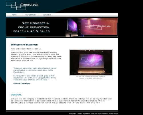Imascreen Website Design