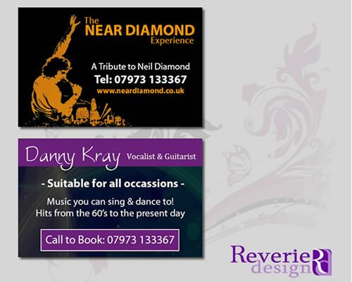 Neil Diamond Tribute - Business Cards