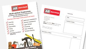 AB Multi-trade - Business Cards and Invoice Design