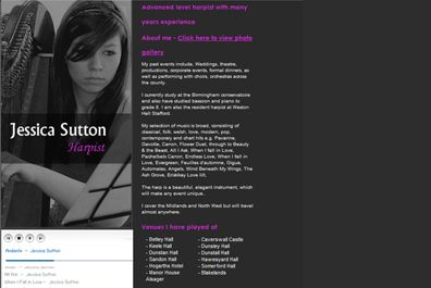 Web Design for Jessica Sutton