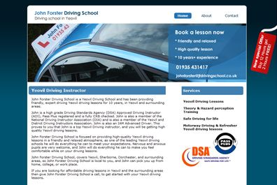 John Forsters website, Driving instructor yeovil
