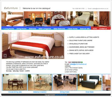 Web Design for EU Furniture